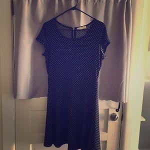 Michael Kors black polka dot dress